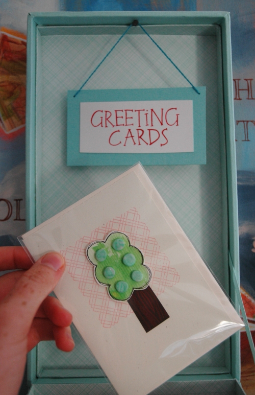 greeting card label
