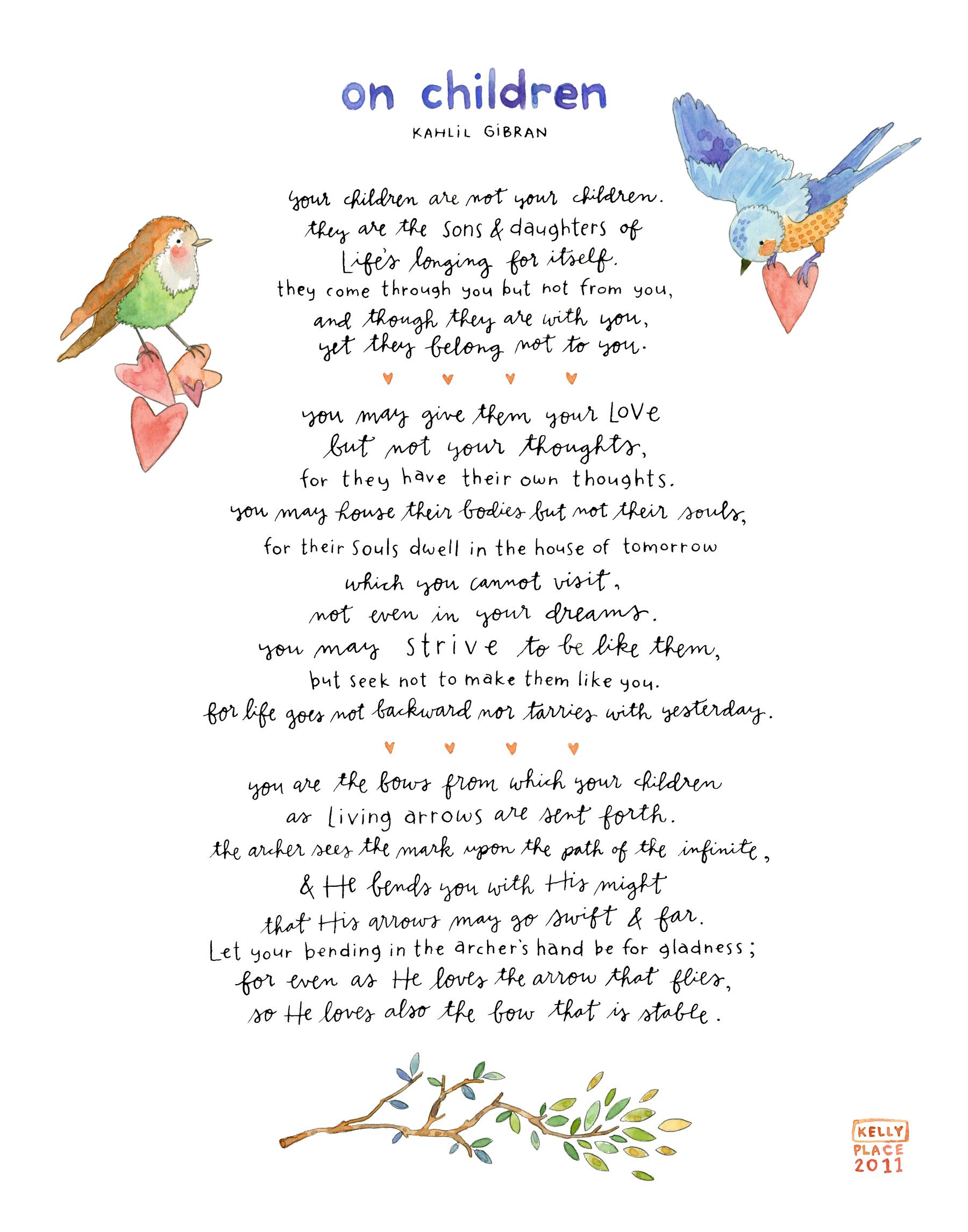 Kahlil Gibran On Children